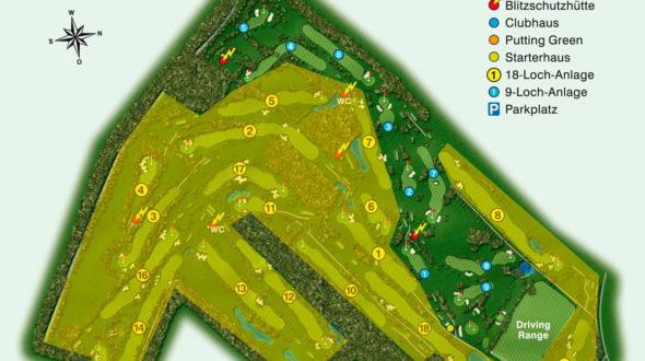 18-Loch-Meisterschaftsplatz-gelb