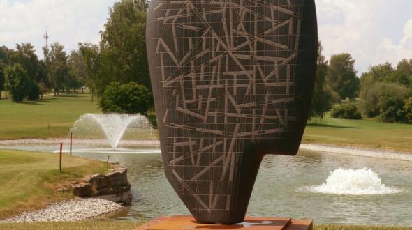 Gedankenströme - Skulptur aus der gleichnamigen Werkserie
