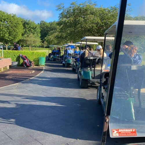 VoBa_Abfahrt mit Carts